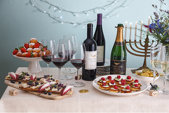 hannukah,wine, Yarden, food, wine pairing, holiday